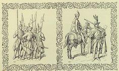"""[To nie jest pełnoprawne źródło, to wizja rysującego, który opierał się na rycinach]   Bronisław Prugar-Ketling, """"Księga chwały piechoty"""", 1937 r."""
