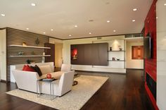 Asian Contemporary Living Room by Elan Designs http://elandesigns.net/portfolio.html