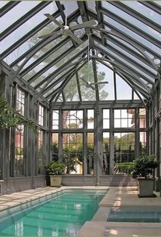 Glass & Steel Pool Pavilion - Tanglewood Conservatories
