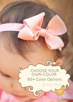 This listing is for a set of FOUR, build your collection!    This super cute single layer small loopy bow is attached to soft headband.