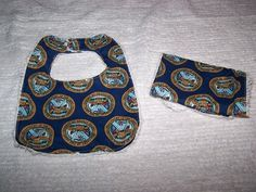 Army Baby Bib and Burp Cloth  Set on Chenille by sososophie, $10.00