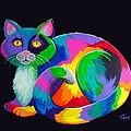 Rainbow Spotted Owl Digital Art by Nick Gustafson