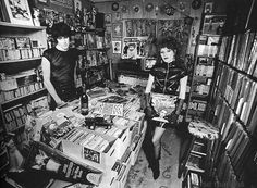 Lux Ivy's (of the Cramps) record collection.
