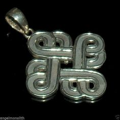 Massiver Keltischer Druiden Knoten Amulett 925 Sterling Silber Anhänger Kelten