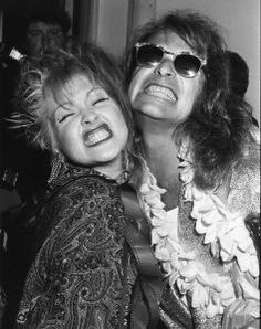 Cyndi Lauper and David Lee Roth of Van Halen (1985, NYC)