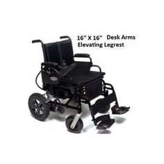 Everest & Jennings Metro Power III Wheelchair with Desk Arms & Elevating Legrest :: Wheelchairs :: Mobility :: New Products :: AcuHealthcare.com