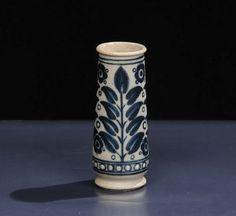 Galileo Chini - MugelloPiccolo vaso cilindrico in grs salato