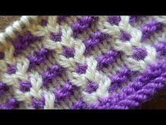 To-farvet smuk strikemønster Baby Knitting Patterns, Knitting Stitches, Viking Tattoo Design, Viking Tattoos, Sunflower Tattoo Design, Knitting Videos, Headpiece Wedding, Homemade Beauty Products, Lana