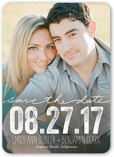 Enchanting Date 5x7 Save The Date Cards by Blonde Designs