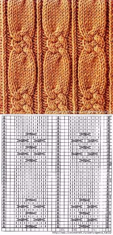 Strickmuster mit kleinem Keltischem Zopf - - Best Picture For Knitting Techniques scarfs For Your Taste You are looking for something, and it is go Cable Knitting Patterns, Knitting Stiches, Knitting Charts, Lace Knitting, Knitting Designs, Knit Patterns, Knitting Projects, Crochet Stitches, Stitch Patterns