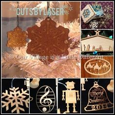 Cuts By Laser Offers beautiful laser cut items for Christmas and all year long.
