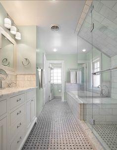 Bathroom Paint Color. Bathroom Ideas. Seafoam Bathroom Paint Color. #PaintColor #SeafoamPaintColor  sexton lawton architecture.