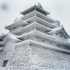 Sapporo Snow Festival - Tsuruga Castle made of snow