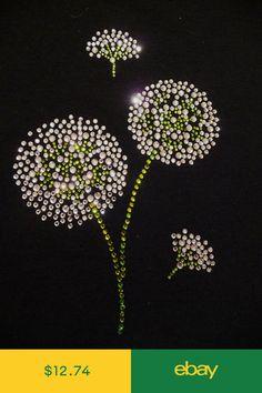 Dandelion Flower Rhinestone Design Bling Iron On Transfer Hot Fix Motif 65602f8bef05