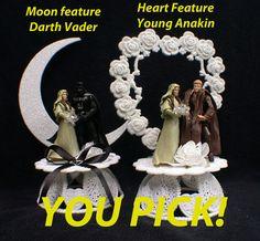 Darth Vader Anakin Star War U PICK  Wedding Cake Topper or Glasses Knife BOOK…