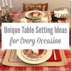 unique table setting ideas. #eBay #spon #eBayguides #tablesetting #Thanksgiving #Christmas #shopping #Tablescape #DIY #entertaining #party