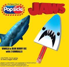The Ice Cream Man Delivers Tasty Horror Movie Popsicles! Peter Benchley, Latest Horror Movies, Jaws Movie, Ice Cream Man, Horror Themes, Very Scary, Shark Party, Classic Monsters, Weird Food