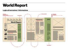 IL magazine — World Report pages, designer: Davide Mottes, typefaces: Klim Type Foundry