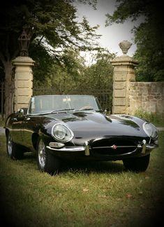 Art on Wheels.Jaguar E-type Roadster Jaguar C Type, Jaguar Xk, Best Classic Cars, Classic Sports Cars, Jaguar Cabrio, Retro Cars, Vintage Cars, Automobile, Convertible