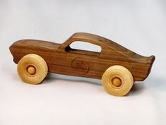 Natural wooden toy car for toddlers