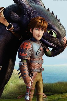 """Hiccup and Toothless, the best duo in the animated business. """"There is no Hiccup without Toothless!"""""""