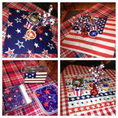 #Centerpieces for #Bunko tables and #July4th are set and ready for fun!