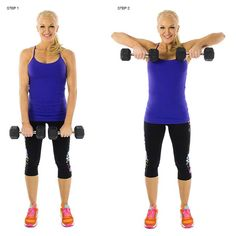 upright row with dumbbells