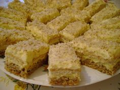 Walnut cake and orange cream - Walnut and orange cream cake Romanian Desserts, Romanian Food, Sweets Recipes, Cake Recipes, Cooking Recipes, Walnut Cake, Sicilian Recipes, Sweet Cakes, Cream Cake