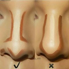 Best Ideas For Makeup Tutorials : Pele – Contorno de nariz … Makeup Tips Contouring, Nose Contouring, Makeup Guide, Contour Makeup, Eyebrow Makeup, Skin Makeup, How To Contour Nose, Makeup 101, Contour For Square Face