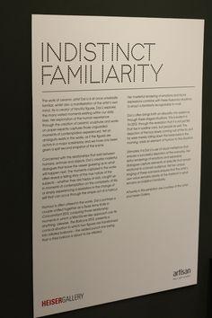 'Indistinct Familiarity' exhibition featuring works by artist Dai Li
