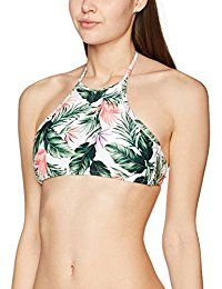 New Look Women's Ollie Tropical High Neck Bikini Top