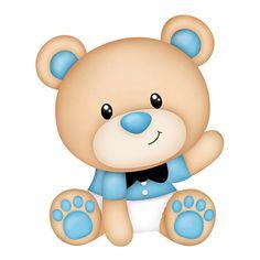 Aplique Decoupage Litoarte APM8-886 em Papel e MDF 8cm Ursinho Bebê - PalacioDaArte Deco Baby Shower, Baby Shower Labels, Baby Boy Shower, Clipart Baby, Dibujos Baby Shower, Scrapbook Bebe, Blue Nose Friends, Teddy Bear Baby Shower, Decoupage
