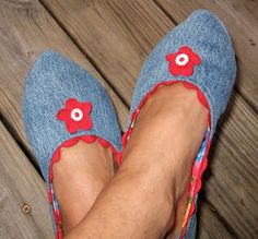 Denim Slippers, pattern