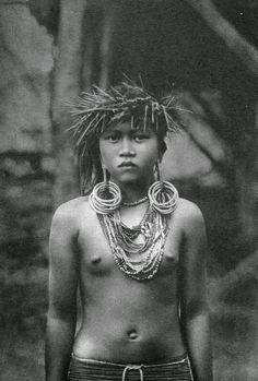 Indonesia, Borneo Woman by A.W. Nieuwenhuis