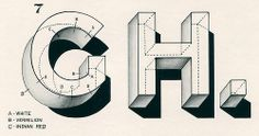 """gregazdowicz:  newhousebooks:  """"GH. The principal method of outlining and shading letters.""""from TheArt of Signwriting, 1954  whoaaaaaa"""