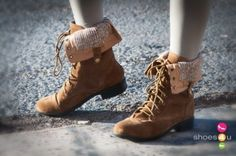 Lace Up Fold Over Boot
