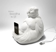 If It's Hip, It's Here: The Boodha USB Dock. Infuse Your iPhone and iPod With Positive Zenergy.