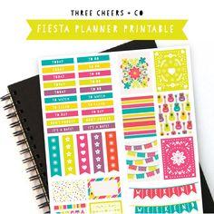 Fiesta Planner Sticker Printable - Three Cheers + Co