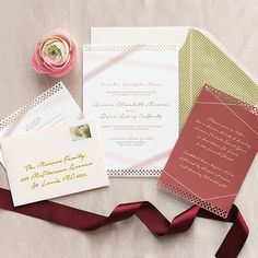 Modern Lace Wedding Invitations by Pretty Together.