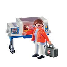 Playmobil dr. w incubator..Great way for siblings and or older preemies to learn about what happens in the NICU.