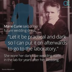 Chemist Marie Curie was born November 7, 1867. She and her husband received the Nobel Prize for discovered the element radium, which many believed caused her death. However, the radiation levels in her body after her death were low, leading scientists to believe Curie's death was caused by working with X-rays in World War I: https://curiosity.com/video/marie-curie-biography-cloudbiography/?utm_source=pinterest&utm_medium=social&utm_campaign=110714pin