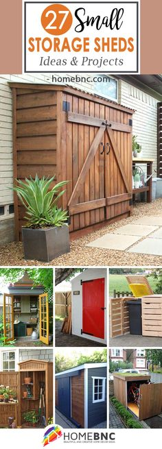 Shed DIY - Plans of Woodworking Diy Projects - Small Storage Shed Ideas Get A Lifetime Of Project Ideas Inspiration! Now You Can Build ANY Shed In A Weekend Even If You've Zero Woodworking Experience! Diy Projects Small, Outdoor Projects, Outdoor Decor, Wood Projects, Garden Projects, Outdoor Storage Sheds, Storage Shed Plans, Patio Storage, Garden Storage Shed