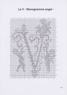 Вышиваем крестиком. МОНОГРАММЫ С АНГЕЛАМИ (25) (495x700, 166Kb)