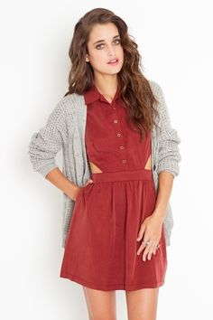 This would be perfect to incorporate into a college girl's wardrobe. The cardigan makes me smile.