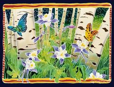 Columbine In The Aspen Painting - Harriet Peck Taylor