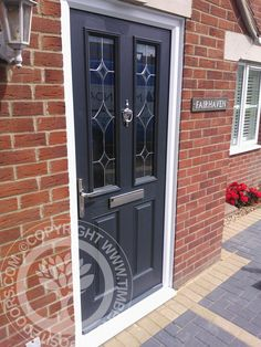 More great examples of fitted Solidor Composite doors by Timber Composite Doors, all available as for both DIY and Fully professionally fitted, design yours now online for free at the link below Black Composite Front Door, Black Front Doors, Composite Door, Front Door Colors, Craftsman Front Doors, Victorian Front Doors, Kitchen Door Designs, Grey Interior Doors, Doors Online
