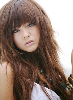 hair style beauty to download long blunt bangs layered hair style ...