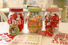 Mason jar Valentine's Day treats