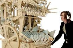 Watch And Listen To The Wintergatan Marble Machine That Plays Beautiful Music With Marbles Rube Goldberg Machine, Marble Machine, Homemade Instruments, Music Machine, White Backdrop, Original Music, Good Music, Amazing Music, Martini