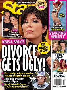 Kris and Bruce Jenner's Divorce and Separation Get Ugly: Bruce Catches Kris Cheating With Joe Francis (PHOTO) Joe Francis, Soap Opera Spoilers, Skin And Bones, Star Magazine, Bruce Jenner, October 7, Bold And The Beautiful, How I Met Your Mother